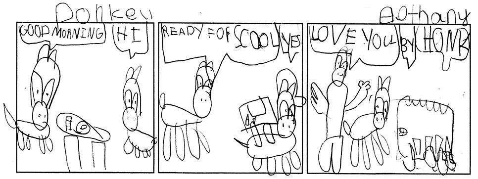A Kid-Made Comic Strip