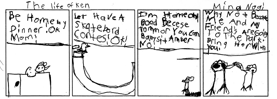 A Kid-Made Comic Strip
