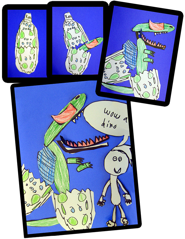 A Kid-Created Dinosaur Comic